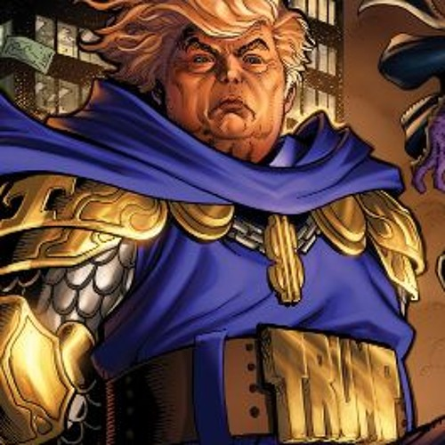 Supervillain Trump rambles about the media and shit