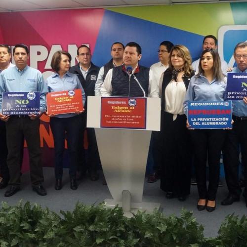 Reprueba @PanporSonora Traición a los Hermosillenses al Concesionar Alcalde el Alumbrado Público