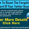 How To Reset The Forgotten Password Of Your Twitter Account