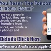 How will you reset the forgotten password of Apple device? .mp3