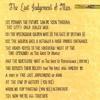 THE LAST JUDGEMENT OF MAN (SOT)