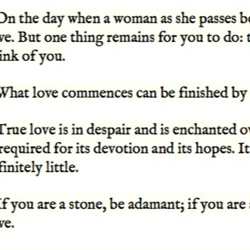 Aphorisms: a heart under a stone