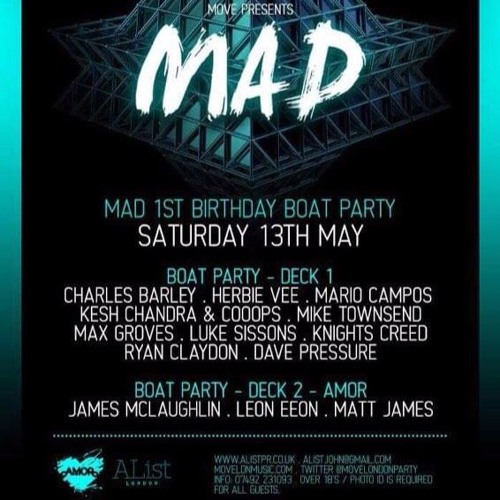 MAD 1ST BIRTHDAY BOAT PARTY