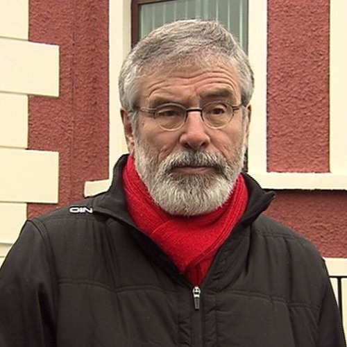 Gerry Adams pays tribute to Martin McGuinness