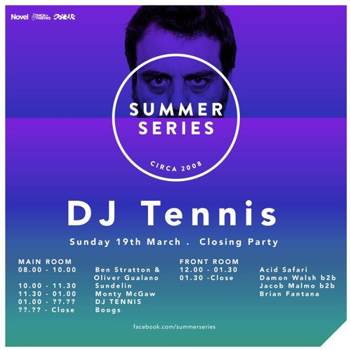 Sundelin live at Summer Series with DJ Tennis