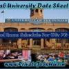 Punjab University Date Sheet 2017 PG Exam Time Table Download PDF