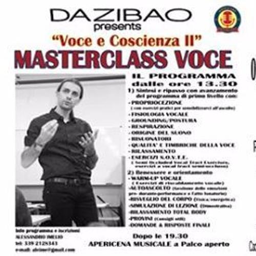 Al Dazibao seconda Masterclass su voce e coscienza con Alessandro Imelio