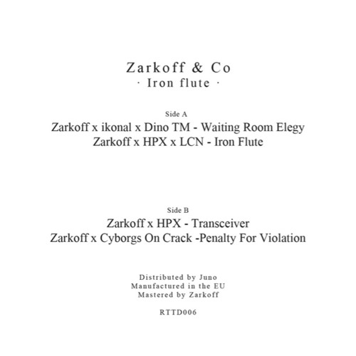 Zarkoff & Co - Iron Flute - RTTD006