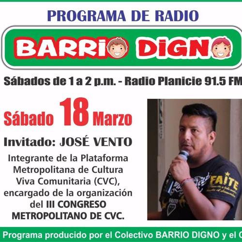 Barrio Digno 180317 Segmento1 3 Gestando Cultura José Vento