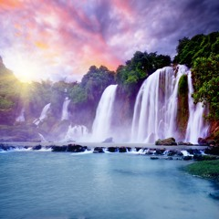 Waterfall  Jungle Sounds - Relaxing Tropical Rainforest Nature Sound ( Singing Birds Ambience )