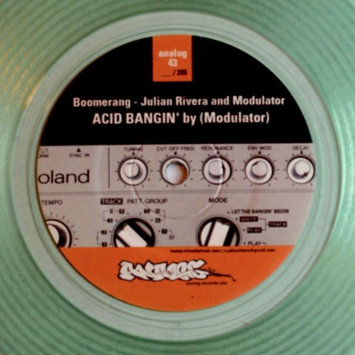 """Black Acid Clear 7"""" Limited - Analog Records / SOLD OUT"""