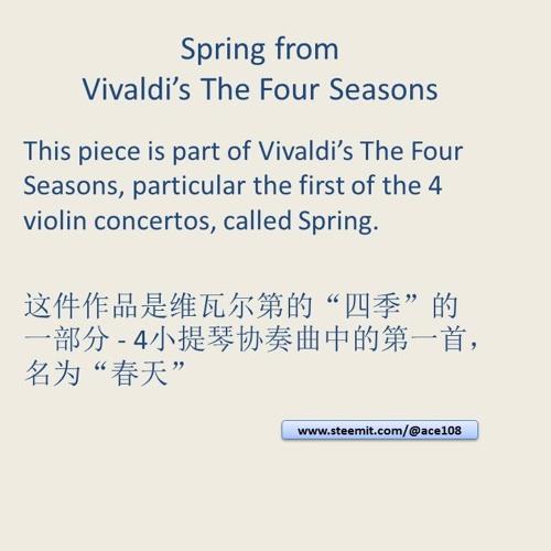 Four - Concerti - Grossi - 4-vivaldi - Op8 - I-la - Primavera - Allegro - Largo - Allegro