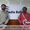 World Theater Day-Coloring the faces! Coloring the Children! -RJ.Venkatesh with Ramakrishna Belthur