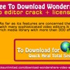 Free Download WonderShare Video Editor Crack License Key