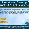 Download free Avast Cleanup Activation Crack 2016 plus key here!