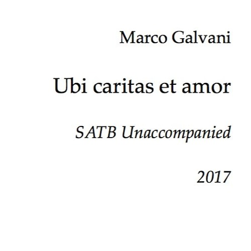 Ubi caritas et amor - Live sample (SATB)