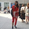 Interview with a Korean girl with red training suit