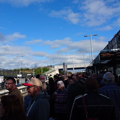 Residents Welcome First Train at the New Ilkeston Railway Station - 2nd April 2017