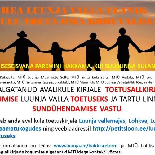 HALDUSREFORM JA LUUNJA VALLA ISESEISVUSE TOETAMINE