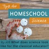 What does science look like for the classical educator?
