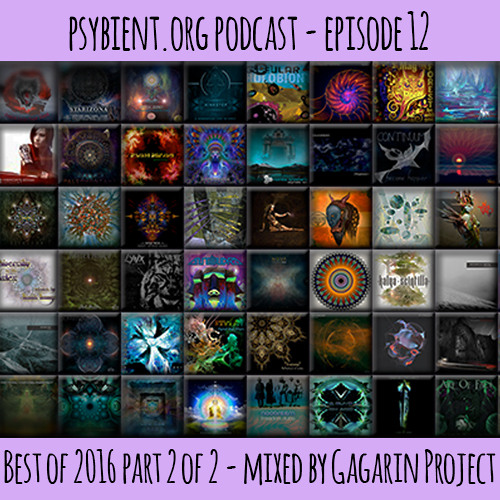 psybient.org podcast episode 12 - Best of 2016 part 2 of 2 mixed by Gagarin Project
