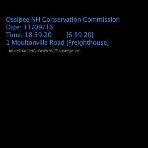 Ossipee NH Conservation Commission 11/09/16 audio