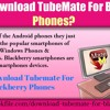How to download TubeMate for Blackberry phones?