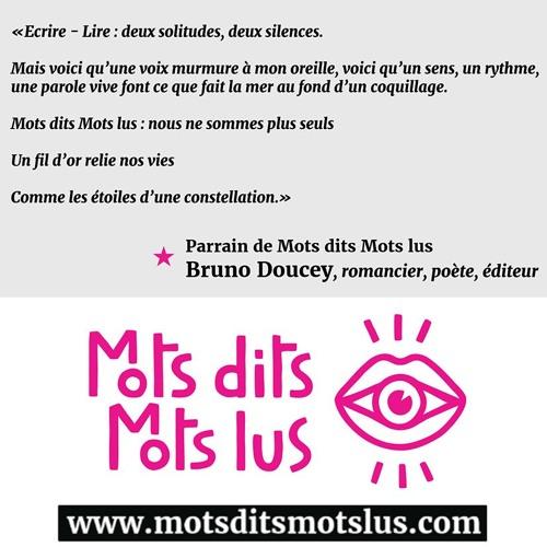 Le Mot Du Parrain Bruno Doucey , romancier, poète, éditeur
