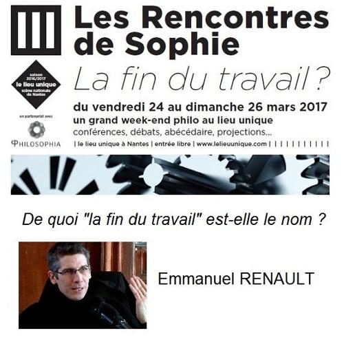 De quoi « La fin du travail » est-elle le nom ?, Emmanuel Renault