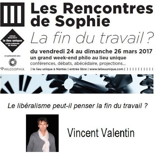 """Le libéralisme peut-il penser """"la fin du travail"""" ?, Vincent Valentin"""