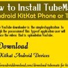 How to Install TubeMate on Android KitKat Phone or Tablet