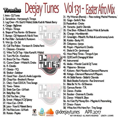 Vol 131 Easter Afrobeats Mix April 2017