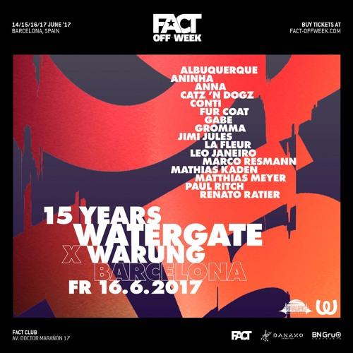 MARCO RESMANN: Watergate ∙ FACT off Week 16/06 - Barcelona
