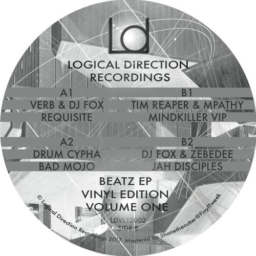LDVL12002 B1) TIM REAPER & MPATHY - MINDKILLER VIP - BEATZ EP VINYL EDITION VOLUME ONE - LINK BELOW