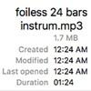 Foiless 24 Bars Instrum