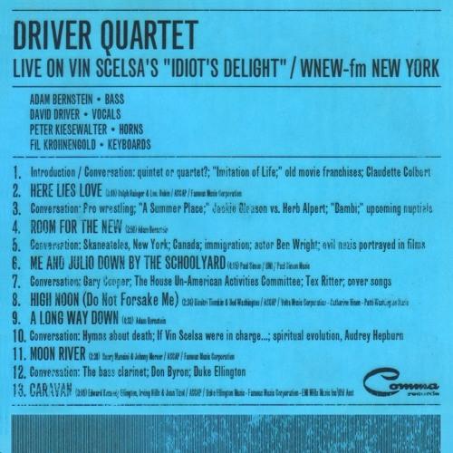 Driver Quartet Live On Vin Scelsa's 'Idiot's Delight' / WNEW-FM NYC