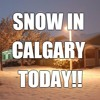 I called my sister in Calgary to bug her about the SNOW there today!!