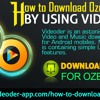 How to Download Ozee Videos by using Videoder?