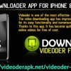 Videoder Downloader App For IPhone & IOS Devices