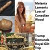 Sal Monella: Melania on Canadian Wood; Trump Demands