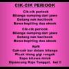 Lagu dan Tari Nusantara: CIK CIK PERIOK - Lagu Anak