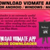 Download Vidmate Apk for Android / Windows / MAC
