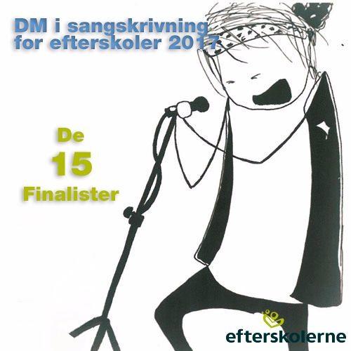Finalister i DM i sangskrivning for efterskoler 2017