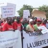 Marche de la presse à Dakar.Claire Gomis.04/05/2017