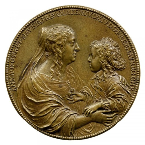 Jean Warin's Anne of Austria and Louis XIV, King of France