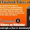 Download Facebook Videos on Videoder