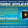 Download Facebook Videos Using Videoder Application
