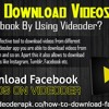 How To Download Videos From Facebook By Using Videoder