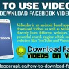 How To Use Videoder To Download Facebook Videos