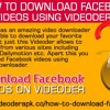 How To Download Facebook Videos Using Videoder